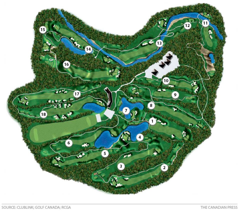 Glen Abbey Course Map